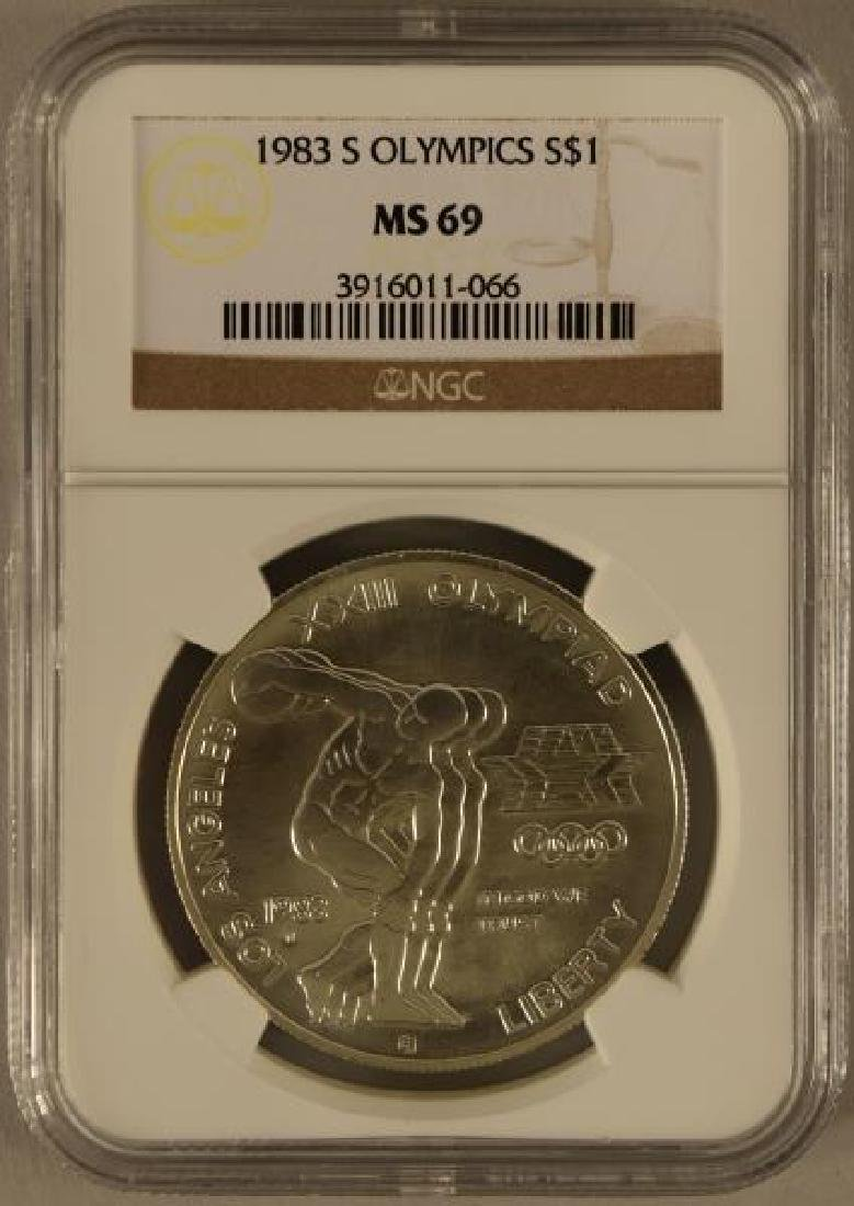 1983 S Olympic Silver Dollar Ms69