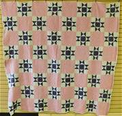 Vintage Ohio Star Hand Made Quilt