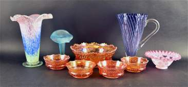 Collection Of Fenton And Northwood Glassware