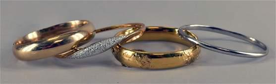 Sterling Silver & Gold Filled Bangles