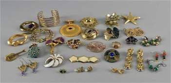 Group Of Goldtone Costume Jewelry