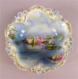 R S Prussia Water Lily Bowl