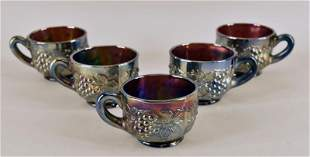 Group Of Fenton Grape Punch Cups