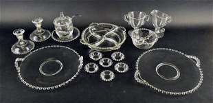 Group Of Imperial Candlewick Serving Pieces