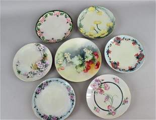 Limoges And Bavaria Hand Painted Plates
