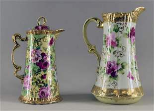 Nippon Gold Encrusted Hand Painted Chocolate Pot