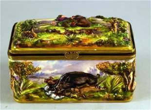 Capodimonte Hunting Scenes Box