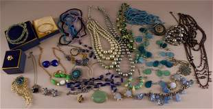 A Large Group Of Multi-colored Costume Jewelry