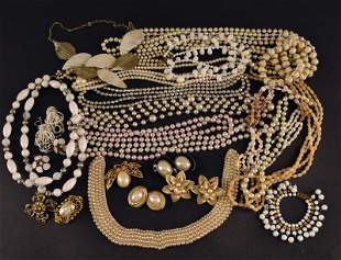 A Group Of Faux Pearl Jewelry