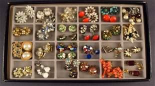 Thirty Four Pair Of Vintage Earrings