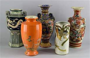 Collection Of Asian Vases
