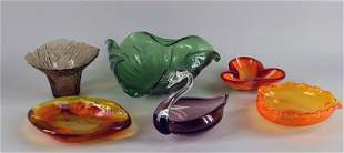 Collection Of Mid Century Art Glass