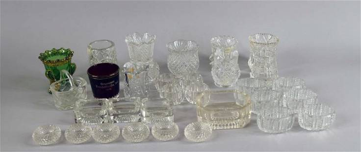 Collection Of Open Salts And Toothpick Holders