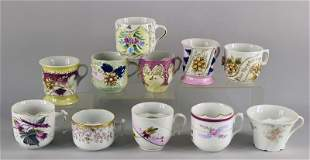 Large Collection Of German Mustache Cups