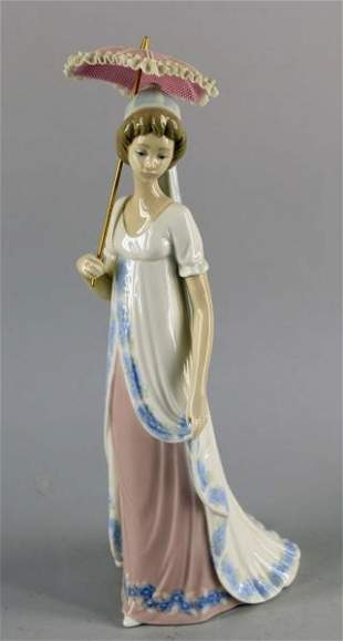 Lladro #5322 Young Girl With Umbrella