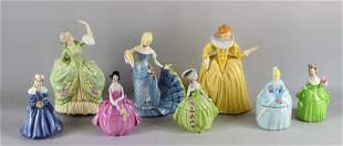 Collection Ceramic And Porcelain Lady Figurines
