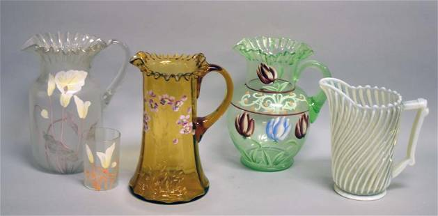 A Group Of Victorian Pitchers