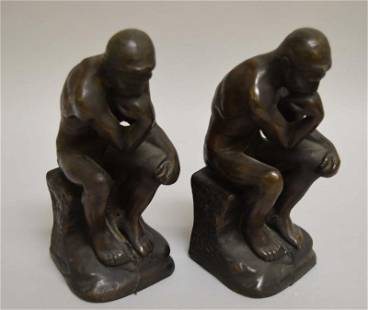 Pr Of Rodin The Thinker Bookends