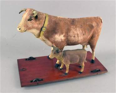 Cow And Calf Pull Toy