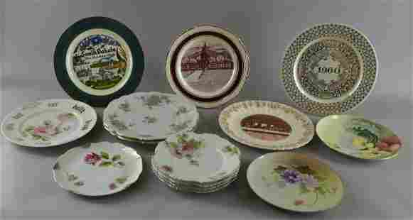 A Group Of Souvenir And Decorative Plates
