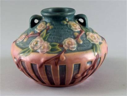 Roseville Cherry Blossom Vase