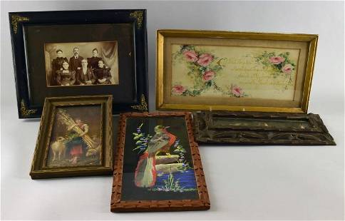 A Group Of Framed Items