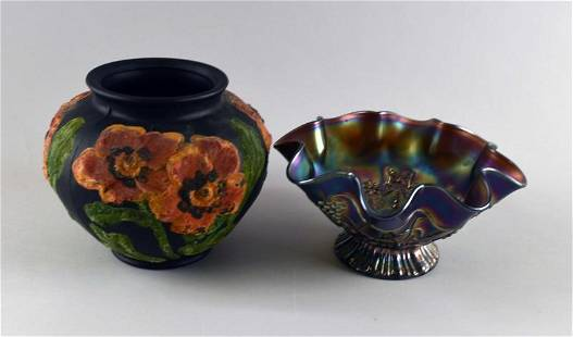 Mccourt Studios Black Satin Coroline Vase