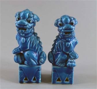 Japan Ceramic Pair Of Foo Dogs Or Lions