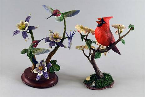 Two Danbury Mint Bird Figurines