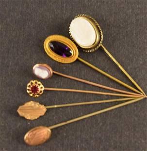 Five Victorian Lapel Pins