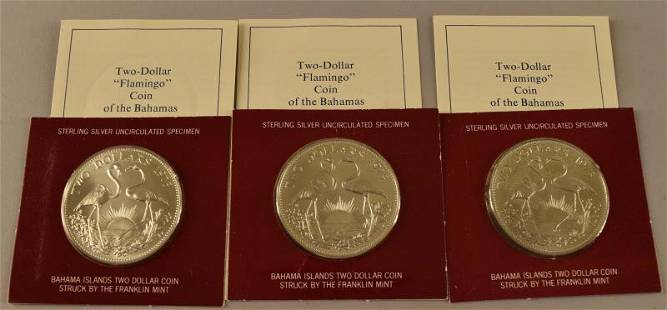 1973 Sterling Silver Bahama $2 Coin