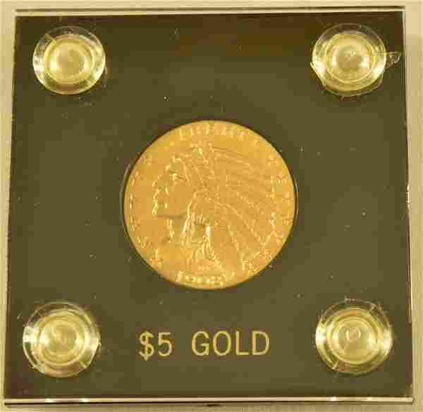 1908 Indian Head $5 Gold Coin
