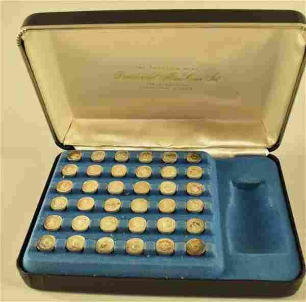 Sterling Franklin Mint Presidential Mini- Coin Set