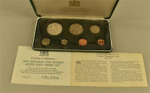 1973 Trinidad And Tabago 7 Coin Proof Set