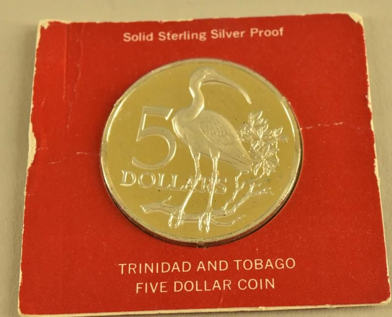 1973 Trinidad And Tobage 5 Dollars Proof