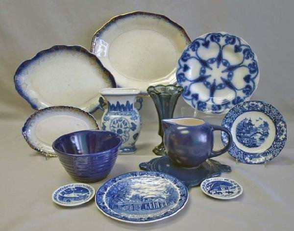 3: Collection of Cobalt & Flow Blue China
