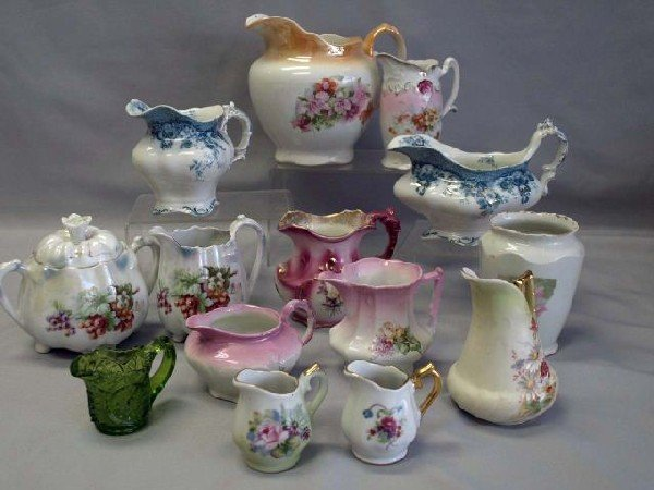 5: Collection of Pitchers & Creamers