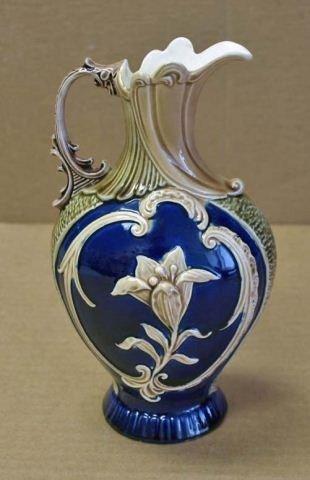 10: Antique Majolica Ewer