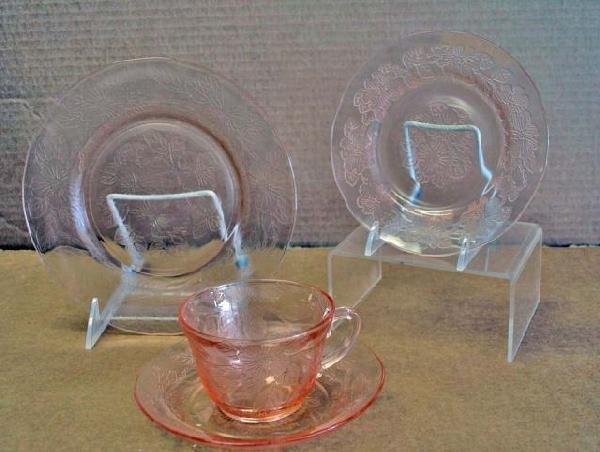 16: Pink Depression Glass Dogwood