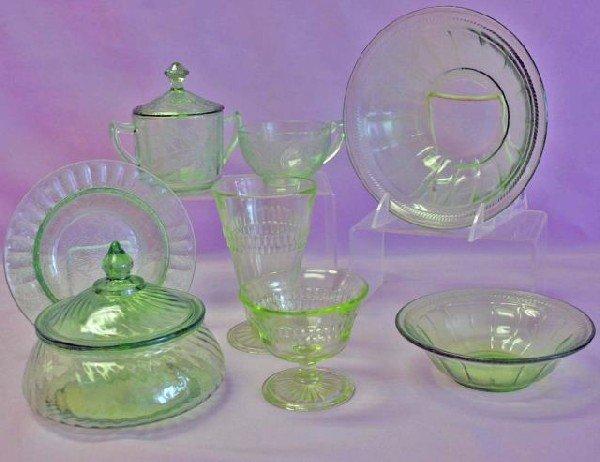 20: Green Depression Glass