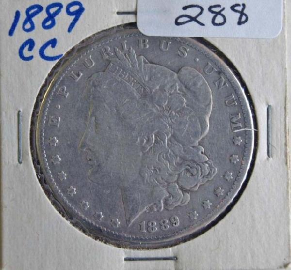 288: 1889CC Morgan Silver Dollar