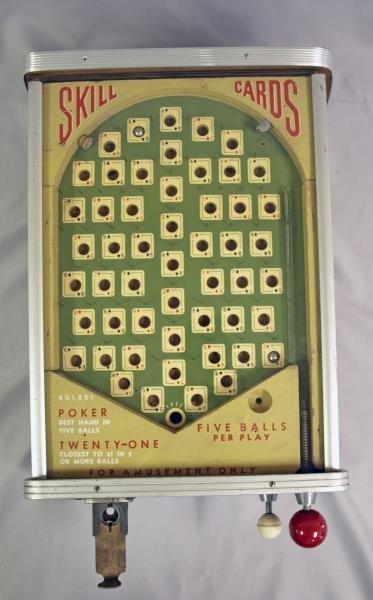Poker and twenty-one Pin Ball Machine