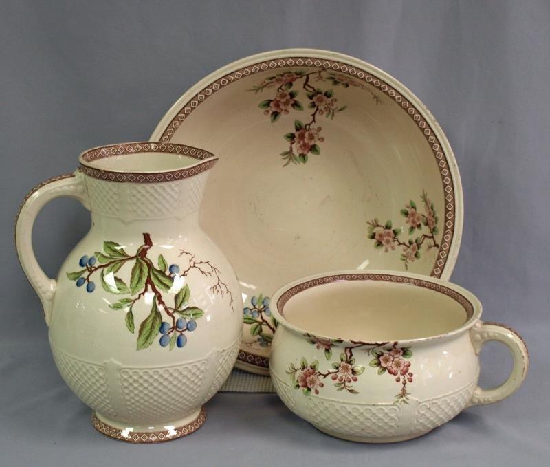 English Registered Ceramic Chamber Set