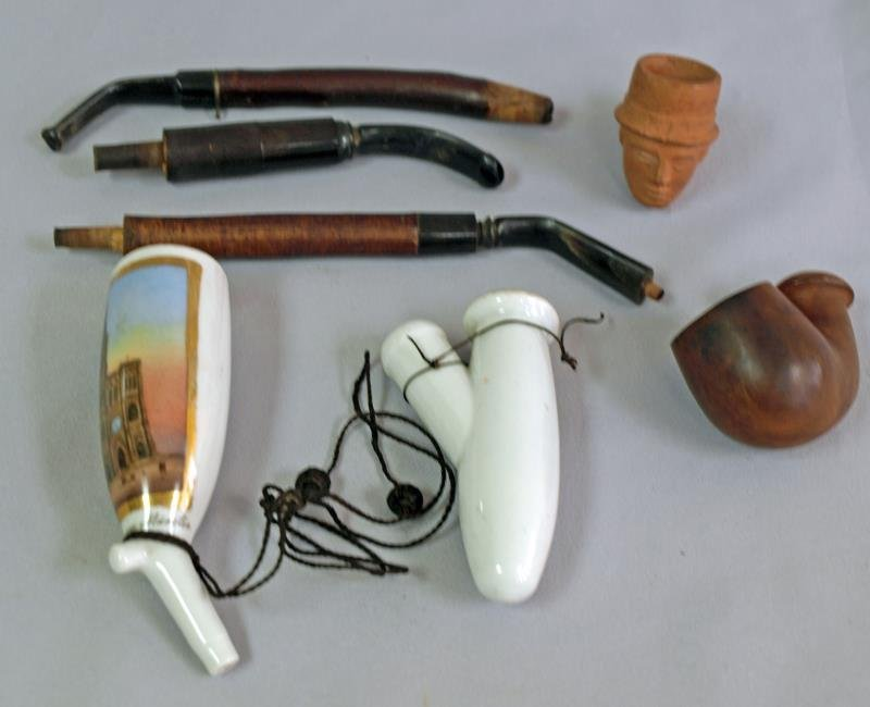 Collection of  Porcelain Tobacco  Items