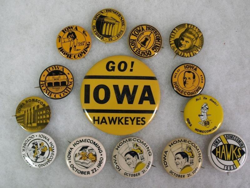University of Iowa Hawkeye's Homecoming Pins