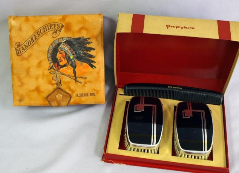 Comb and Brush Box and Handkerchief Box