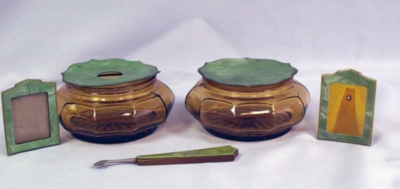 Vintage Celluloid Powder Box