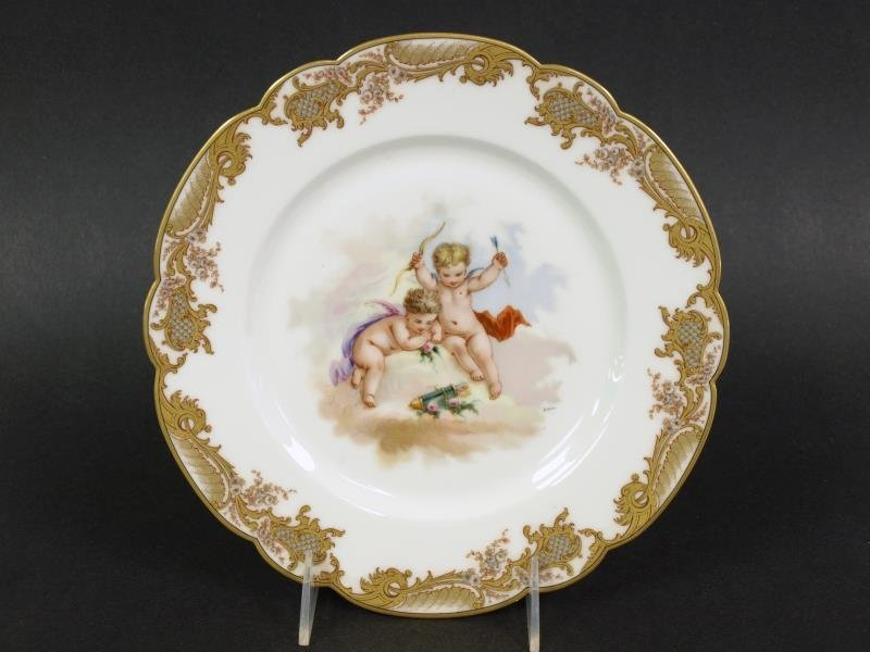 Sevres Cupid Painted Plate