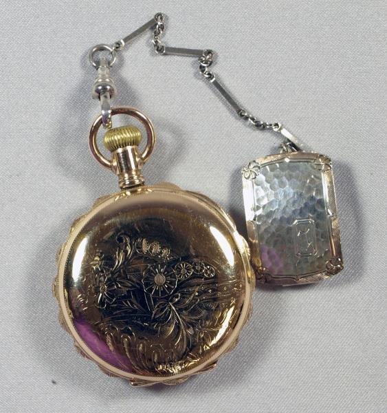 Lady Elgin 14k Yellow Gold Pocket Watch