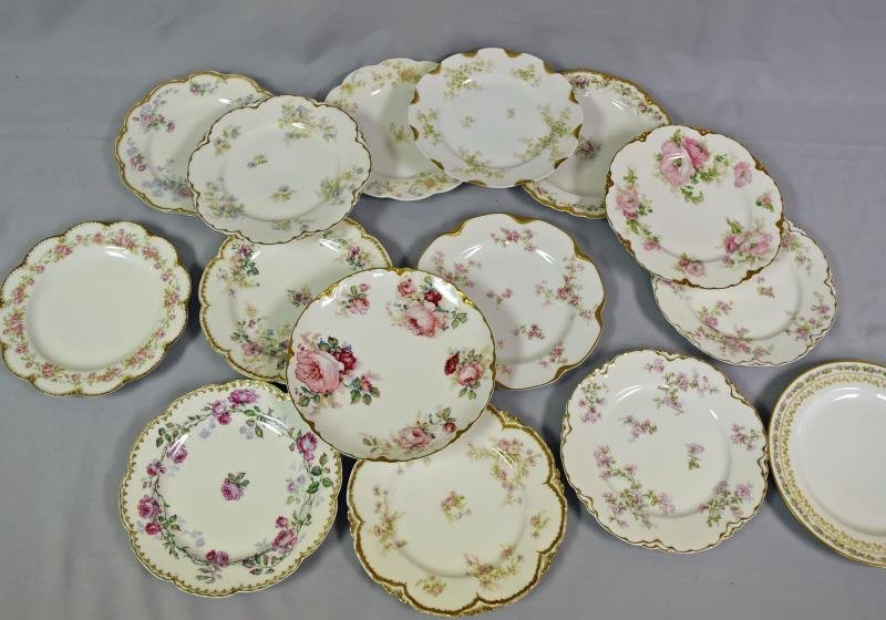 Collection of Haviland Limoges Luncheon Plates